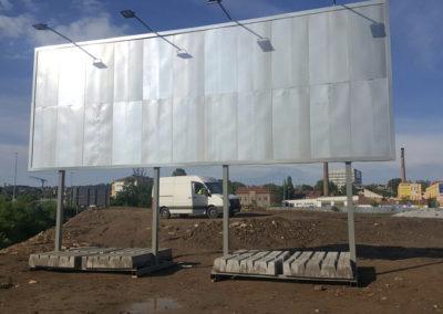 Mobilní jednostranný billboard 10,2 × 2,4 m