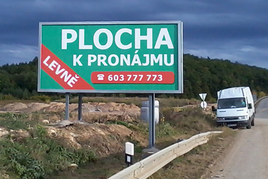 Zabetonovaný billboard 5,1×2,4